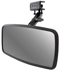 Mirror with Glare Shield Clamp