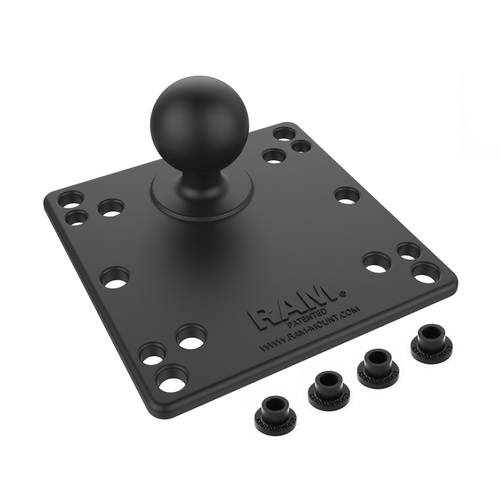 "Square Alum Plate 1.5"" Ball"